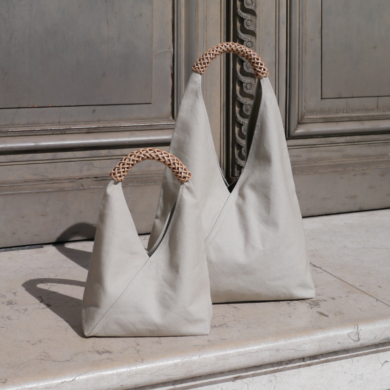 WOVEN TRIANGLE BAG S / M