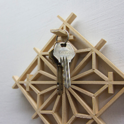 WINDOW FLOWER KEY RING FRAME